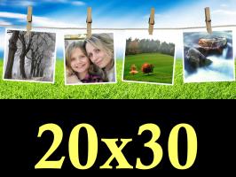 Ruční zpracování fotek 20x30