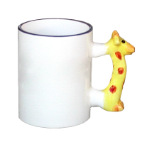 FotoHrnek s žirafou - Potisk nalevo od ouška