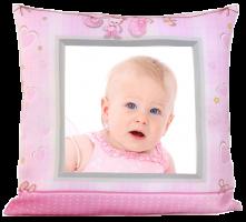 Dětský FotoPolštář - růžový