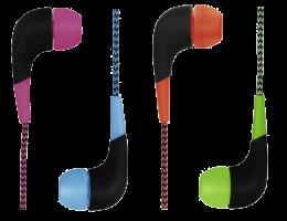 Hama sluchátka Neon s opleteným kabelem