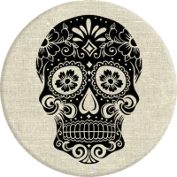 PopSocket Sugarskull on Linen
