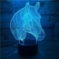 3D lampa Horse