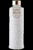 Skleněná láhev EQUA s koženým obalem Mismatch Essence