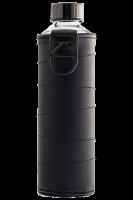 Skleněná láhev EQUA s koženým obalem Mismatch Graphite