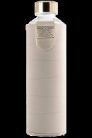 Skleněná láhev EQUA s koženým obalem Mismatch Beige