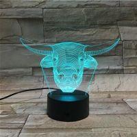 3D lampa Bulls