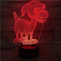 3D lampa Dog