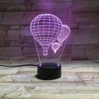 3D lampa Hot-Air Balloon
