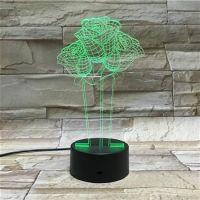 3D lampa Rose