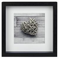 Hama portrétový rámeček dřevěný SCALA, 23x23 cm, černý