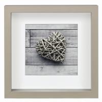 Hama portrétový rámeček dřevěný SCALA, 23x23 cm, šedý