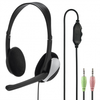 Hama PC Office stereo headset HS-P100, černý