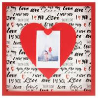 Hama portrétový rámeček dřevěný LOVE, 21,2 x 21,2 cm