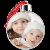Vánoční koule s vlastní fotografií