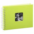 Hama album klasické spirálové FINE ART 24x17 cm, 50 stran, kiwi, bílé listy